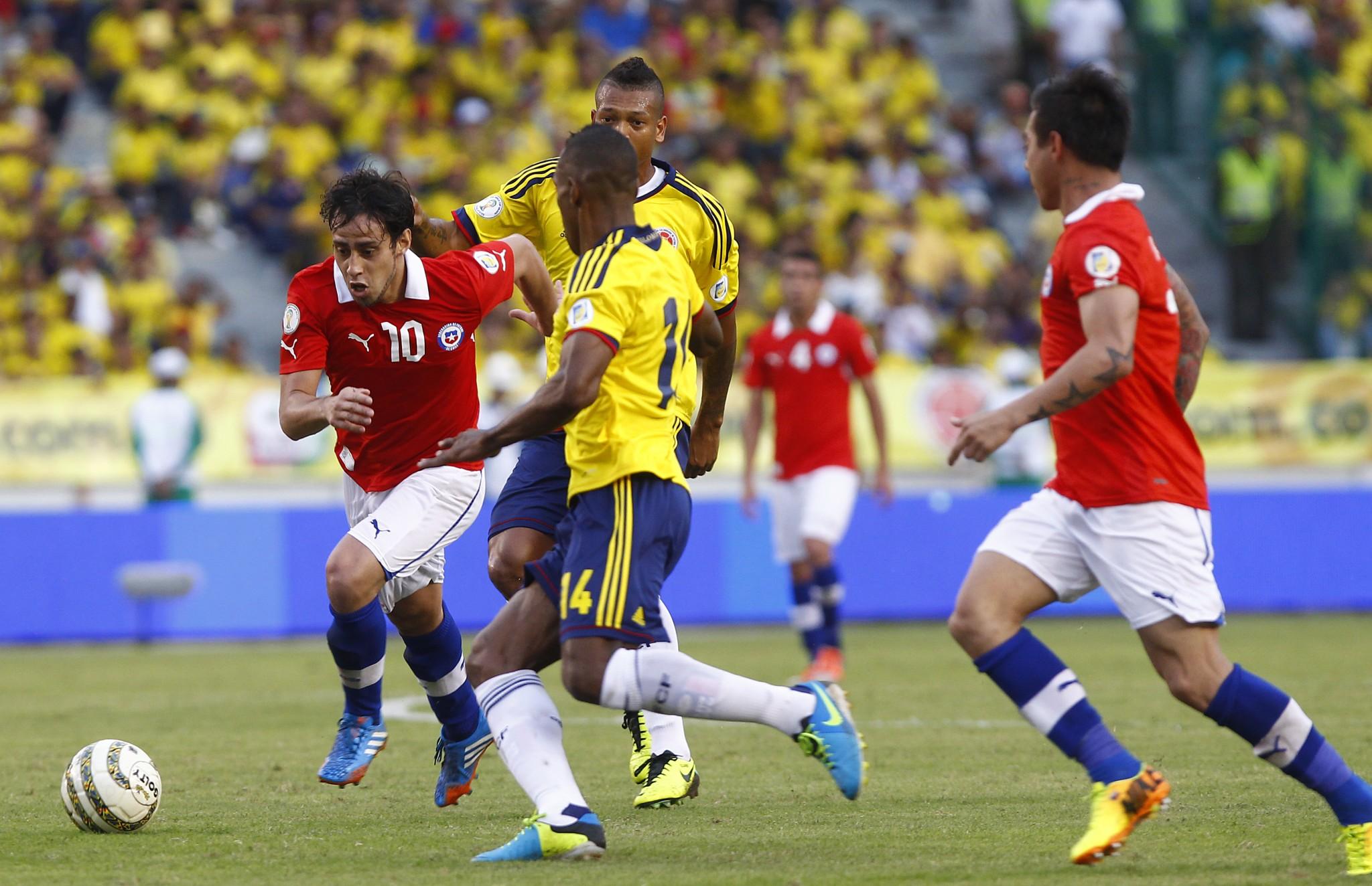 Pareggio con il Cile per la Colombia di Fredy